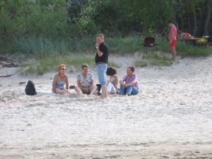 Am Srrand von Jurmala - Studienreise Baltikum 015