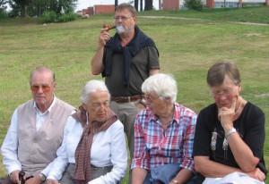 Seminarteilnehmer mit Präsident - Studienreise Baltikum 159