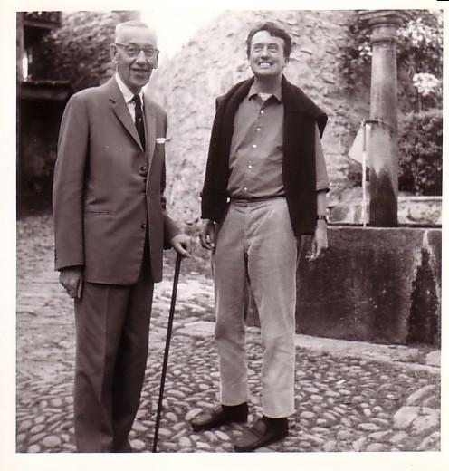 Werner Bergengruen mit Verleger Peter Schifferli, 1959