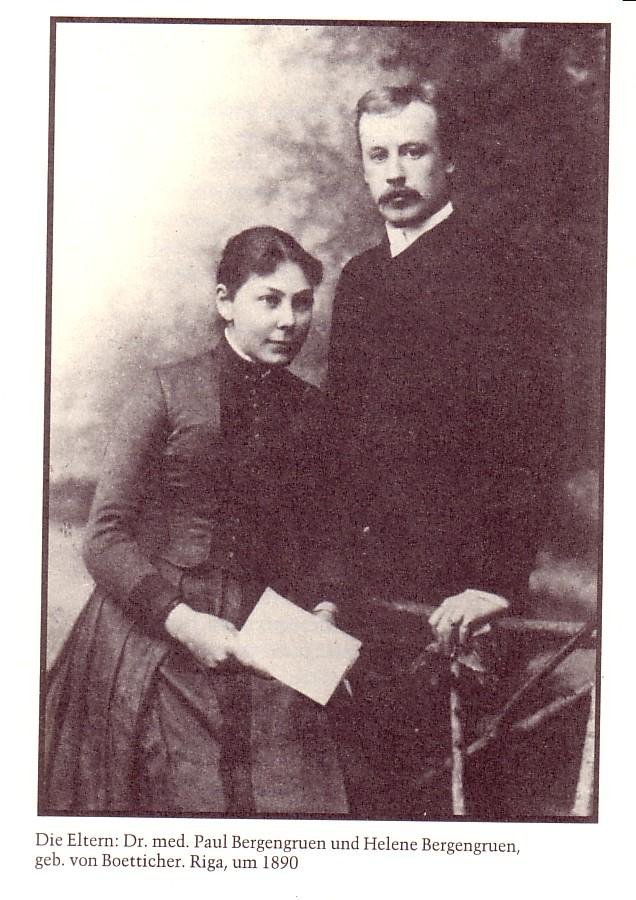 Die Eltern von Werner Bergengruen